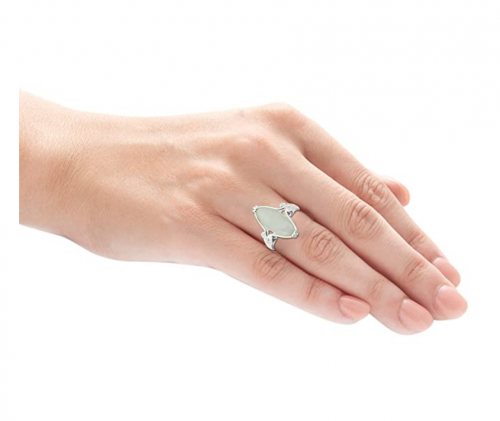 Morgan & Paige .925 Sterling Silver Jade Ring on Hand