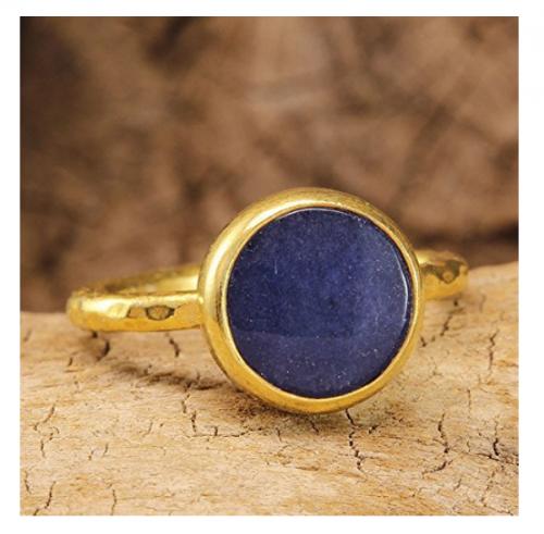 Natural Blue Jade Ring by Caprixus