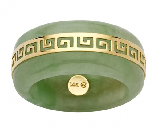 Palm Beach Jewelry 14K Yellow Gold Jade Ring