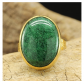 Natural Nephrite Green Jade Ring by Caprixus