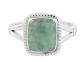 NOVICA Light Green Jade Cocktail Ring