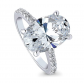 BERRICLE Oval Cut Solitaire Engagement Ring