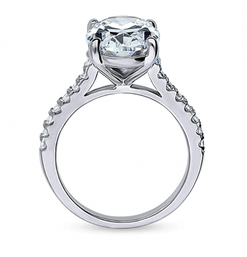 BERRICLE Oval Cut Solitaire Engagement Ring Profile