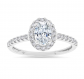 Parade of Jewels 10k Oval Shape Halo Engagement Ring
