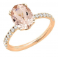 Dazzlingrock Collection Diamond Oval Engagement Ring