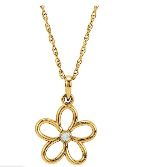 Black Bow Jewelry & Co. Diamond Accent Flower Necklace