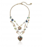 Betsey Johnson Weave and Sew Flower Necklace