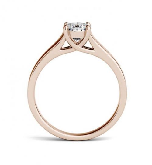 Charles & Colvard Oval Moissanite Engagement Ring Profile