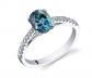 Ruby & Oscar Alexandrite & White Topaz Ring