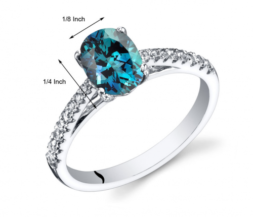 Ruby & Oscar Alexandrite & White Topaz Ring  Size
