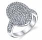 Ruby & Oscar CZ Dazzling Machine Ring