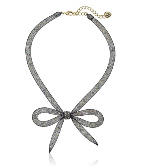 Betsey Johnson Memoirs of Betsey Bow Necklace