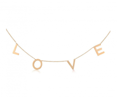 PG Rose Gold Plated Love Collar Necklace