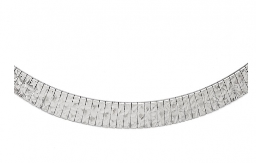 Black Bow Jewelry & Co. Diamond Cut Link Collar Necklace Detail