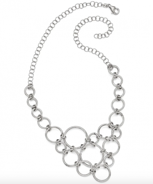 Black Bow Jewelry & Co. Multi Circle Collar Necklace