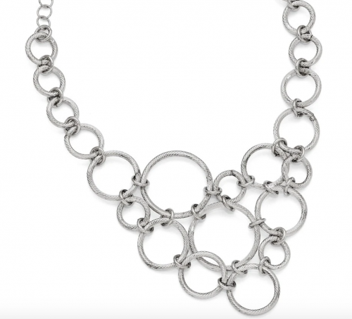 Black Bow Jewelry & Co. Multi Circle Collar Necklace Detail