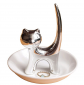 PUDDING CABIN Silver Cat Ring Stand