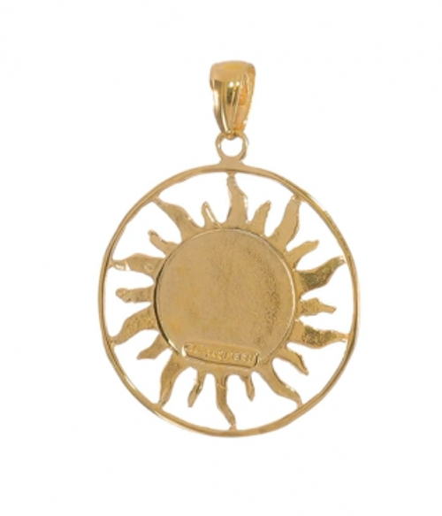ICE CARATS 14k Gold Sun Moon Star Necklace Back
