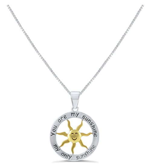 SilverCloseOut You are my Sunshine Necklace