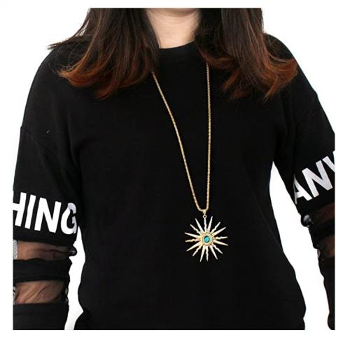 St.Ushine Classic Sun Necklace on Model