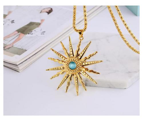 St.Ushine Classic Sun Necklace on Display