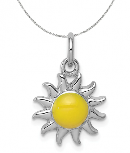 Black Bow Jewelry & Co. Yellow Sun Charm Necklace