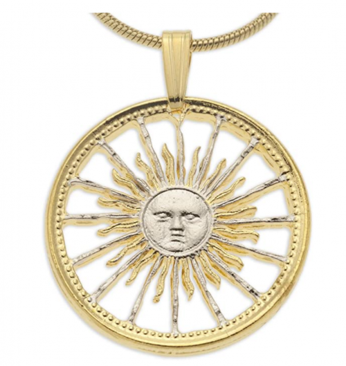 The Difference World Coin Jewelry Sunface Necklace