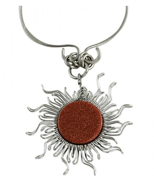 NOVICA Sunstone Necklace Pendant