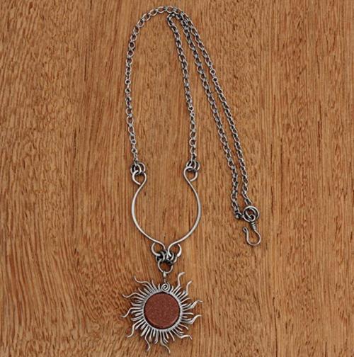NOVICA Sunstone Necklace on Display