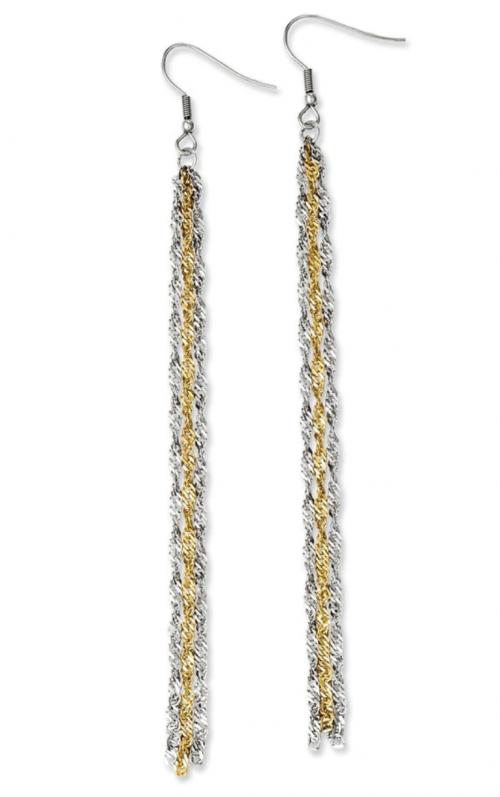 Black Bow Jewelry & Co. Two-Tone Chain Dangle Earrings
