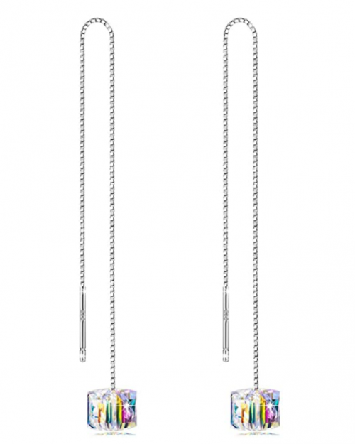 OwMell Sparkle Chain Earrings