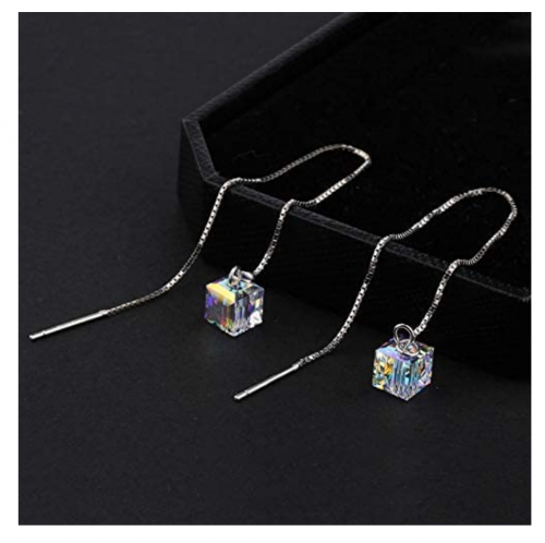 OwMell Sparkle Chain Earrings on Display