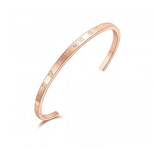SAM & LORI Roman Numerals Cuff Bangle Bracelet