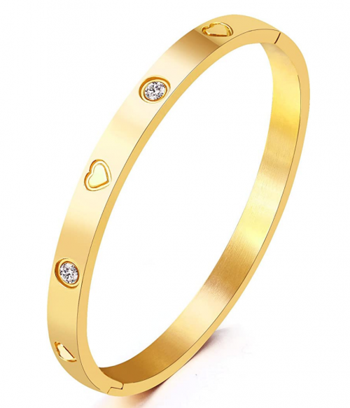 MVCOLEDY Jewelry Gold /White Gold Plated Bangle Bracelet