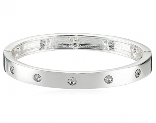 Guess Narrow Hinge with Crystal Bangle Bracelet