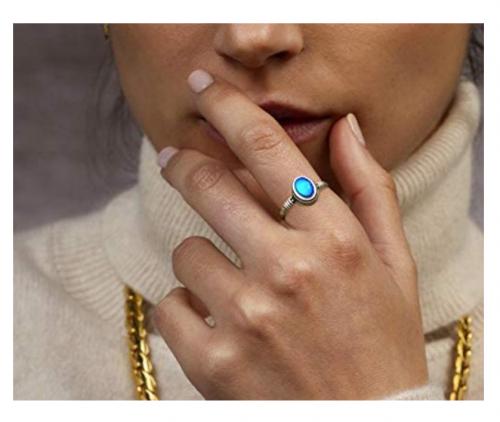 MY MOJOYAS Sterling Silver Mood Ring