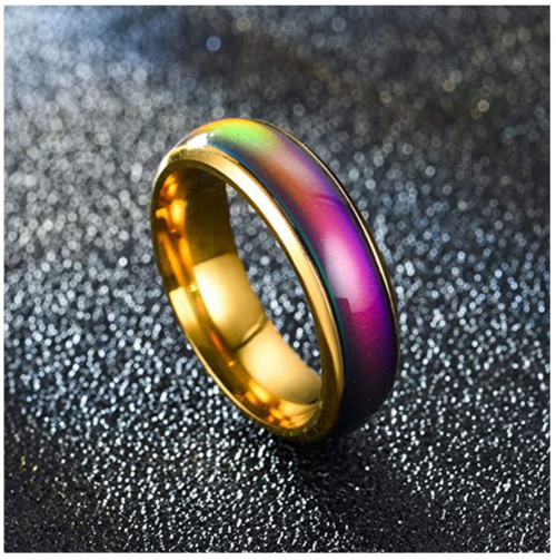 Aokarry Stainless Steel Ring Color Changing Mood