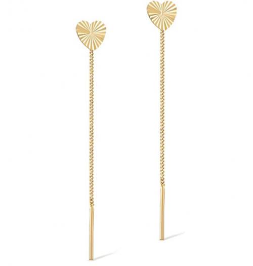 GELIN Earrings Women Ear Line Dangle Drop Earrings in 14k Solid Gold