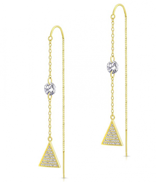 Arts & Molly Sterling Silver Threader Earrings with Cubic Zirconia