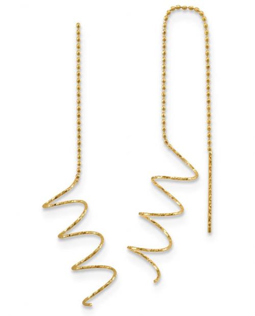 Spiral Threader Earrings