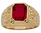 Palm Beach Jewelry Red Ruby Ring
