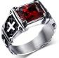 UOKOHO Cross Ruby Ring
