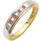 Dazzlingrock Collection Round Ruby & White Diamond Band