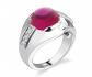 Ruby & Oscar Ruby & CZ Cabochon Ring