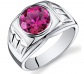 Peora Ruby-Sterling Silver Ring