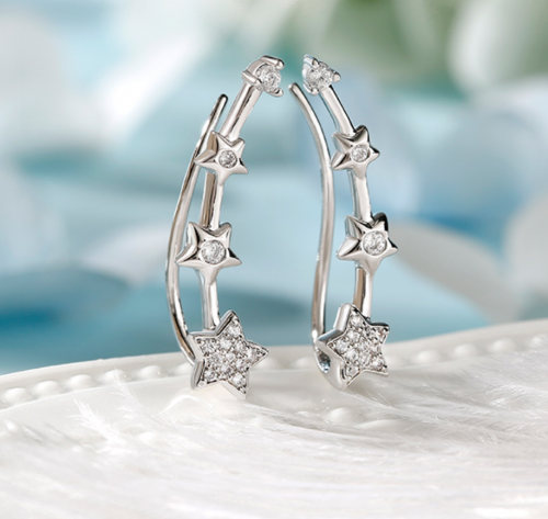 Jeulia Star Earrings