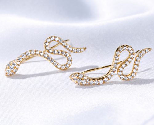 Jeulia Snake Design Earrings