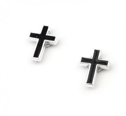 MINGHUA Non-Pierced Magnetic Fake Cross Earrings
