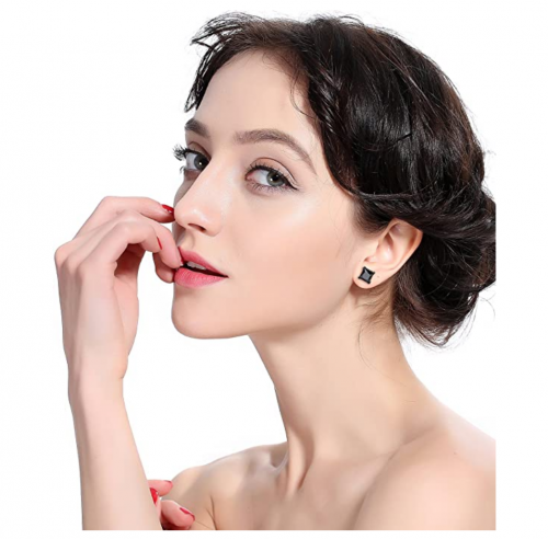 ORAZIO 3 Pairs Stainless Steel Magnetic Stud Earrings