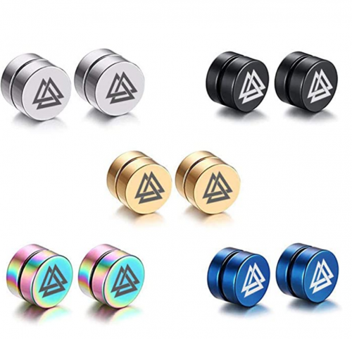 VNOX 5 Color Set-8MM Magnet Magnetic Earrings